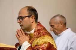 Un altro momento della celebrazione eucaristica della domenica delle palme.