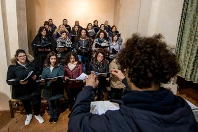"""La Polifonica """"Laudae Choralis"""" diretta dal maestro Giuseppe Cottone che anima le celebrazioni della settimana santa."""