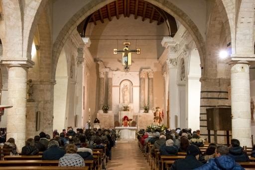 La cattedrale di Caltabellotta è di nuovo protagonista per la santa messa di risurrezione.