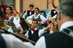 Il gruppo folkloristico.